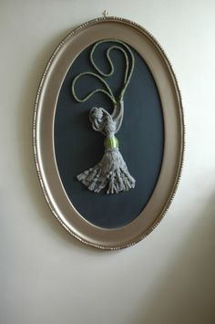 Framed Green and Bronze Concrete Tassel from Concrete Ghost