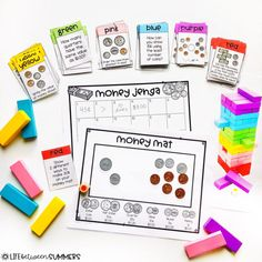 Jenga Games: Engaging Math & Literacy Centers for the Classroom - Life Between Summers Math Literacy, Literacy Centers, Maths, Teaching Math, Numeracy, Kindergarten Math, Teaching Resources, Fun Math Games, Math Activities