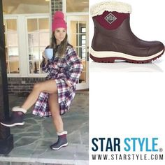 Jessie James Decker wearing Muck boots #jessiejamesdecker #muckboots  Shopping info at www.starstyle.com