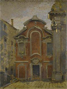 thunderstruck9:  Walter Sickert (British, 1860-1942), Priest's House of San Stae, c.1903-04. Oil on board, 46 x 35 cm.