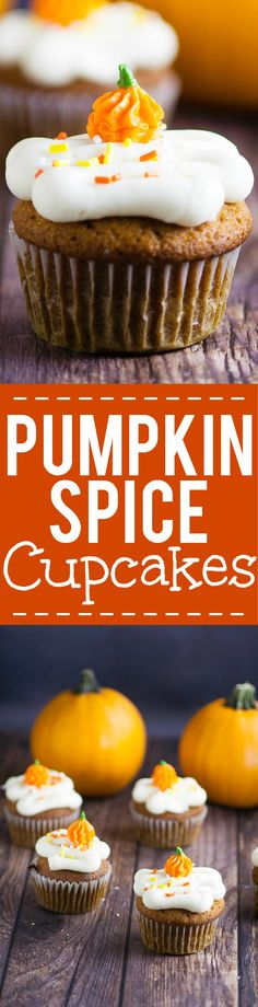 Pumpkin Spice Cupcakes Pumpkin Spice Cupcakes Recipe - These scrumptious and festive Pumpkin Spice Cupcakes topped with cream cheese frosting are an incredibly delicious and flavorful easy dessert recipe for Fall. Perfect for all pum Chocolate Rum Cake, Chocolate Crunch, Pumpkin Spice Cupcakes, Pumpkin Dessert, Easy Cupcake Recipes, Dessert Recipes, Cupcake Flavors, Cupcake Ideas, Pumpkin Recipes