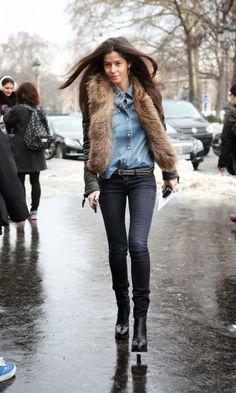 1 Peça 3 Looks: Colete de Pelo + Jeans