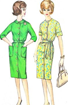 1960s Dress Pattern Simplicity 4559 1960s Front by paneenjerez, $10.00