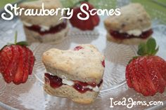 Strawberry Ricotta Scones Recipe — Dishmaps