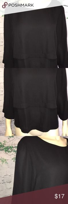 "1.STATE women's blouse color black size XL 1.STATE women's blouse      color black  size XL    new with out tags.  store try on model. good condition. see all photos for better reference.      shoulder to shoulder  17""                            sleeve length 17"" full length 23""    100%polyester     100%Authentic  Any questions feel free to message me. costumer satisfaction is my priority. positive feedback rating will be appreciated THANK YOU =) 1. State Tops Tees - Long Sleeve"