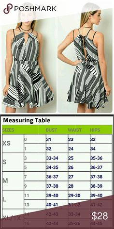 SALE! Black and white pattern dress Double strap shoulders black and white zigzag pattern tie in the back Chupchick  Dresses Midi
