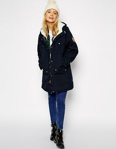 Shop Fjallraven Hooded Parka Coat With Shearling Lining at ASOS. Hooded Parka, Parka Coat, Fashion Online, Hoods, Rain Jacket, Windbreaker, Raincoat, Winter Jackets, Outfits