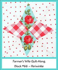 Farmer's Wife Quilt Along Block #66 - Periwinkle