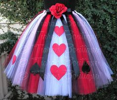 Queen of Hearts Adult Teen Preteen Costume Tutu by TiarasTutus