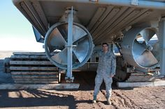 THULE AIR BASE, Greenland – Two massive propellers deliver thrust from the tugboat's 900-horsepower engines, allowing the boat to push around huge cargo ships. Tech. Sgt. T. Read Harris, 821st Support Squadron vehicle maintenance representative, is responsible for the tugboat's maintenance. (U.S. Air Force photo)