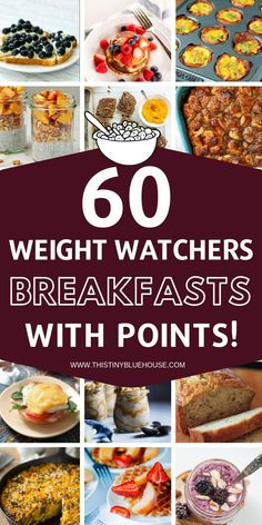 60 Weight Watchers Breakfast Recipes With Smart Points - Recipes Petit Déjeuner Weight Watcher, Plats Weight Watchers, Weight Watchers Smart Points, Weight Loss Meals, Weight Watchers Meals, Losing Weight, Weight Watcher Snacks, Weight Gain, Weight Watchers Smoothies