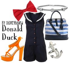 Donald Duck. I want the purse and anchor ring! Only reason for the repin!!