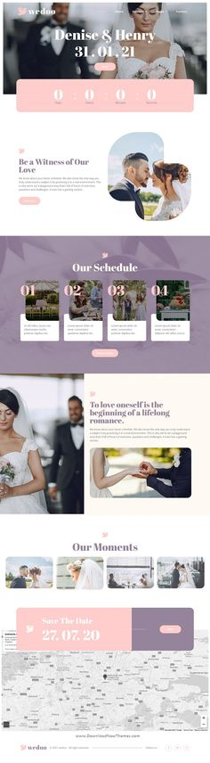 Wedoo is a clean, elegant and modern design responsive premium elementor template kit for online wedding invitation, marriage, marriage planner and similar business professional website. It has 10+ pre-designed pages and sections can be imported into your website on WordPress in just a few clicks using the free page builder Elementor to download now & live preview click on image 👆