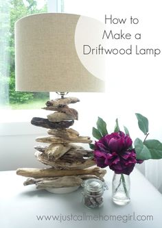 How to make a Driftwood Lamp! Really easy using an existing lamp!