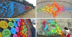 This Urban Artist Creates Amazing Rainbow Colored Art Around The World