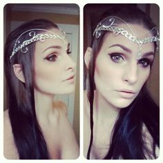 Elf costume for Halloween, DIY Elf Ears, In Lord of the Rings / Middle Earth Fashion, Arwen Evenstar circlet headpiece.