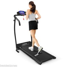 Foldable Electric Motorized Treadmill Running Jogging Indoor Exercise Machine US