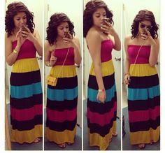 Cute summer long dress #summerdress #maxidress #summeroutfit