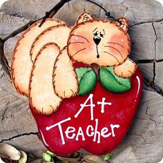 Teacher Ornament by CountryCharmers on Etsy, $7.75