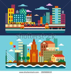 Bridge Flat Stock Vectors & Vector Clip Art | Shutterstock