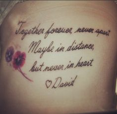 Tattoos on pinterest in memory of tattoo and tat for Together forever tattoos