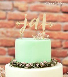 """Rustikaler Cake Topper aus Holz mit dem Wort """"Ja"""" I Tortenstecker Hochzeitstorte I wedding cake topper"""
