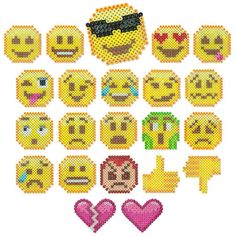 <p>Designed By The Perler Design Team</p>  <p>Here are 22 of our favorite pop-culture emojis that you can make with Perler beads. Share 'em, trade 'em, stick 'em to your locker, fridge or bedroom door to express a mood. Make your favorites or make 'em all, even design your own with blank pegboard patterns included!</p>