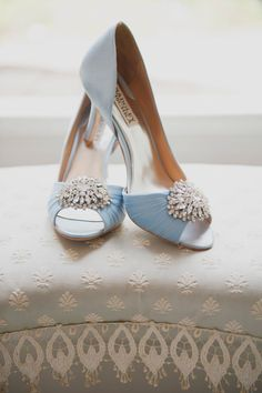 A Vintage, Garden-Inspired Wedding at Bissell House in South Pasadena, California Light Blue Badgley Mischka Bridal Shoes Converse Wedding Shoes, Wedge Wedding Shoes, Bride Shoes, Prom Shoes, Wedding Pumps, Wedding Dress, Light Blue Wedding Shoes, Blue Bridal Shoes, Light Blue Heels
