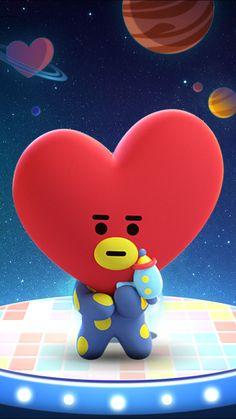 #BTS #BT21 #Tata Bts Taehyung, Bts Jimin, Frases Bts, Fanart Bts, Les Bts, Line Friends, Billboard Music Awards, Bts Chibi, I Love Bts