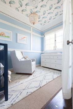 Baby Boy Room Ideas - Designing a boy nursery seems to be an overwhelming task. When you choose the best baby boy room ideas, multiple color Baby Blue Nursery, Baby Boy Nursery Themes, Baby Bedroom, Baby Boy Rooms, Baby Boy Nurseries, Baby Room Decor, Nursery Room, Nursery Neutral, Light Blue Nursery