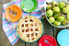 Urban Foraged, Autumn Apple Pie baked and served in Fiesta®Dinnerware | Under The Plum Blossom Tree