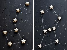 Cookie Constellations by carnetsparisiens #Cookies #Orange #Ginger