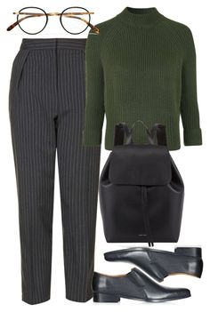"""""""Untitled #4444"""" by style-by-rachel ❤ liked on Polyvore featuring Topshop, Mansur Gavriel and Garrett Leight"""