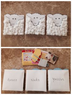 Special envelopes for Eid al Adha gifts and sheep craft kits for kids!