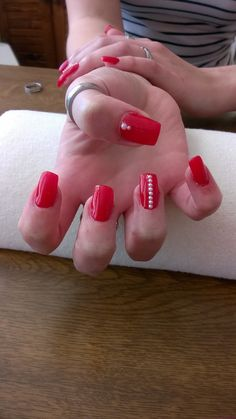 red gel and white glitter