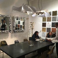 JIENARTS +86-18129907376 Milan International Furniture Fair  #软装#实物画#装置艺术画# Original Design, Vanity, Ceiling Lights, Mirror, The Originals, Lighting, Milano, Furniture, Home Decor