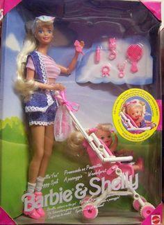 MATTEL Strollin' Fun Barbie & Kelly DOLL TOY!...