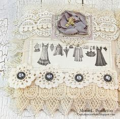 Hi there! It's Mona here to share a shabby mini album which includes beautiful papers from theAlma's Sewing Room collectionalong with lots of pretty lace and trimmings from my stash.…