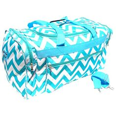 """Best Turquoise Chevron Large Duffle Cheer Gym Bag 21"""" by TravelNut for Back to School Supplies for Kids Teens Boys & Girls TravelNut http://www.amazon.com/dp/B00LNM448I/ref=cm_sw_r_pi_dp_G7i3tb1A0HNKTA10"""