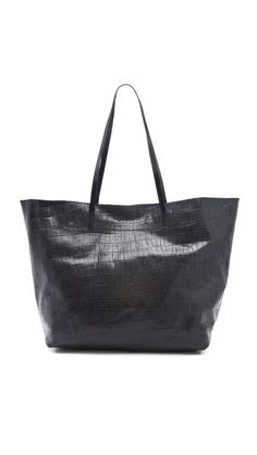 Joie Sunday Vintage Croco Tote - Black $355