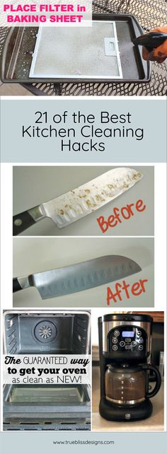 These hacks will make cleaning the kitchen easy. You'll find tips and tricks on how to clean large appliances from your oven to the washing machine and small appliances such as the microwave too. Check out the article on www.trueblissdesigns.com and discover ways to keep everything in your kitchen gleaming with a minimal amount of effort.