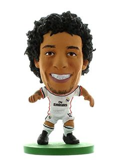 Soccerstarz Real Madrid Marcelo Vieira Home Kit Toy Football Figures: Soccerstarz figure, 2 inches tall with collectors card in a blister pack. British Football, European Soccer, Soccer Tips, Real Madrid, Image Link, Toy, Passion, Collections, Amazon