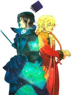 Pandora hearts glen (oswald) and jack. How they hay do you colour like that?!?!