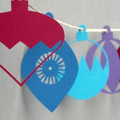 Bauble garland from Rosie and the Boys at Not On the High Street