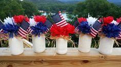 Patriotic Themed Mason Jar(s) Centerpieces by Kreative Kinks