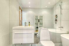 Small bathroom made big Modern Scandinavian House Design