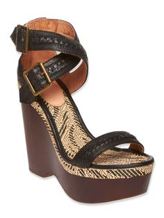 2d9928fd9eae JOIE SHOES CONCHITA WEDGE BLACK  270.00 Our huarache inspired Conchita  wedge features a wooden wedge with