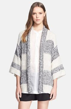 Reliable For Sale Vince Striped Knit Cardigan Outlet Locations For Sale Really Cheap Price 6Qcah1Ol