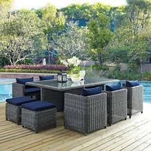 Modway Summon 11 Piece Outdoor Patio Dining Set