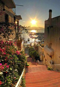 De wijk Kastella in Piraeus, Athene